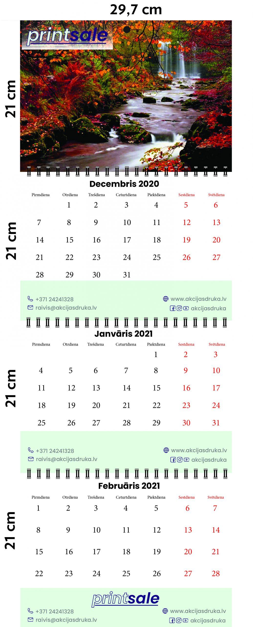 Sienas kalendāru izgatavošana un druka