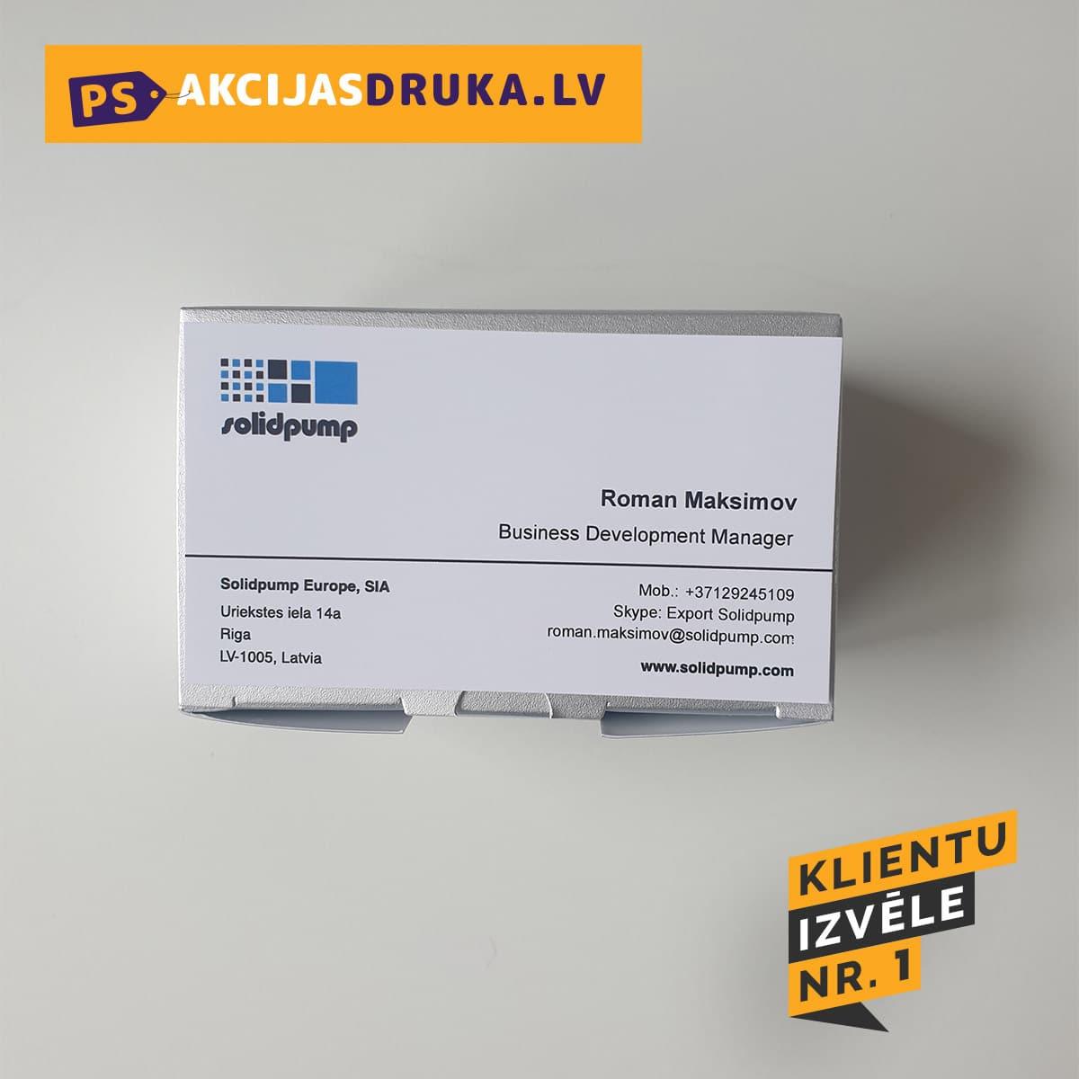 Vizītkartes druka un vizītkartes dizains