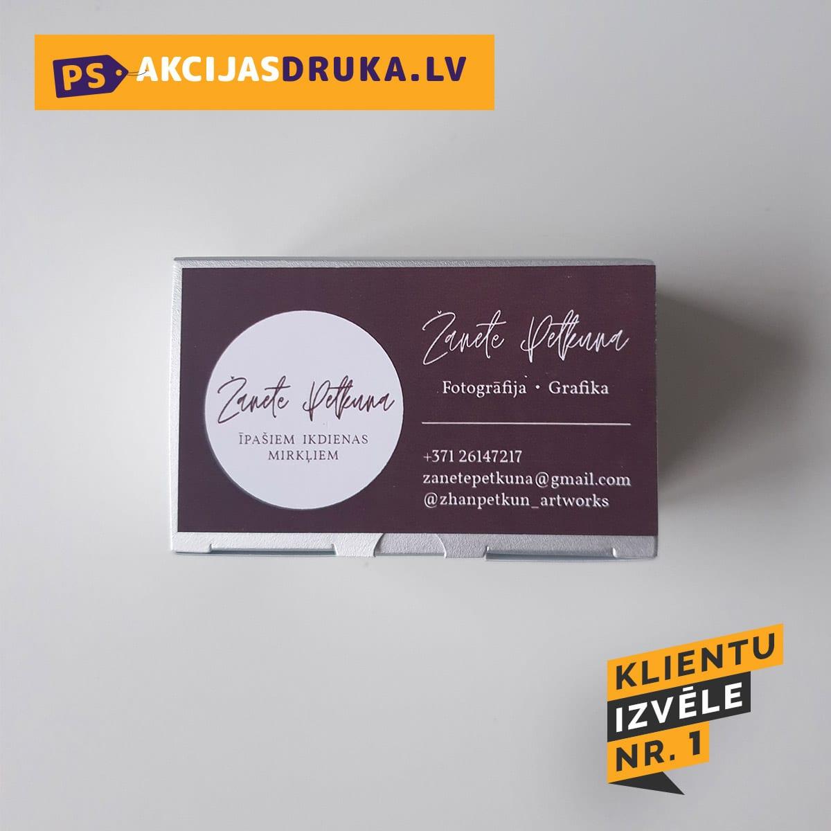 Vizītkartes druka un vizītkartes izgatavošana